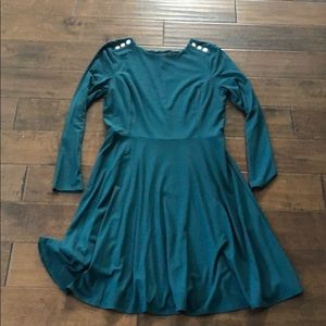 WHBM NWT Dark Green Dress. Size 10.